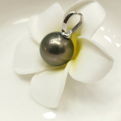 Pendentif perle de Tahiti ronde 14mm shamani creaperles