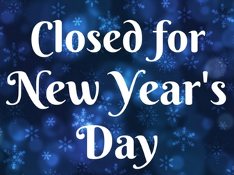 Office Closed for New Year's Day