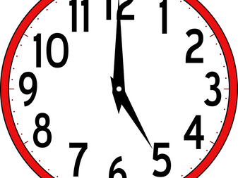 Saturday Mass time change to 5 PM