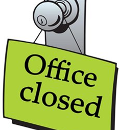 Parish Office Closed Monday, March 2nd