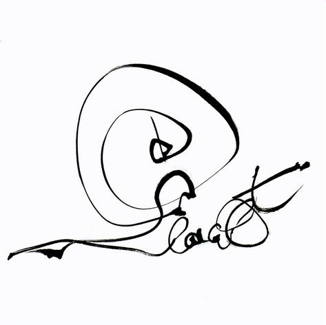 escargot calligramme calligraphie d'un mot ©yvesdimier
