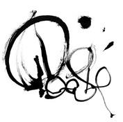 Poésie calligramme calligraphie d'un mot yves dimier