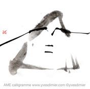 ame calligramme calligraphie d'un mot ©yvesdimier