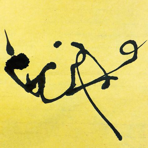 Ecrire calligramme calligraphie d'un mot ©yvesdimier we