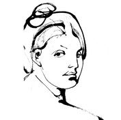 Tribute to Ingres calligramme calligraphie d'un mot ©yvesdimier