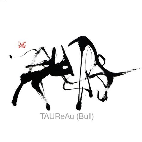 taureau calligramme calligraphie d'un mot ©yvesdimier