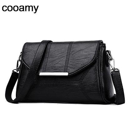 Crossbody Pu Leather Designer Shoulder Bag/ High Quality Solid