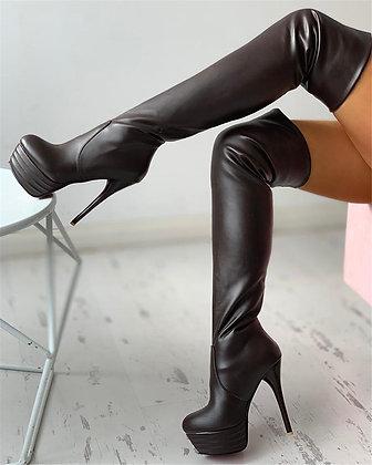 Size 31-46 Winter Add Fur Platform Extreme High Fetish Thin Heels