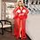 Thumbnail: Lace Lingerie Robe Long Sheer Plus Size Sexy Dress Babydolls / Transparent
