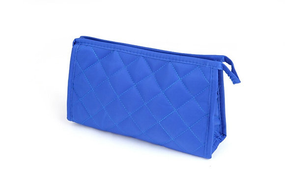 Women Cosmetic Bag Functional Diamond Lattice Travel Makeup Case