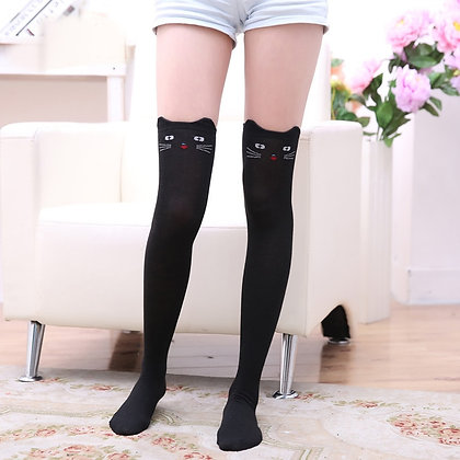 Cat Pattern Long Stockings Warm Thigh High Over the Knee Socks