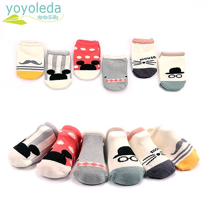 High Quality Baby Foot Socks / Anti-Slip Anklets Socks Cotton Breathable