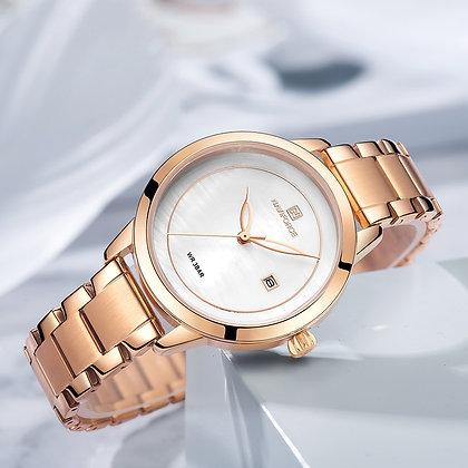 Luxury Brand - NAVIFORCE - Rose Gold  for Women Quartz Wrist Watch Fashion