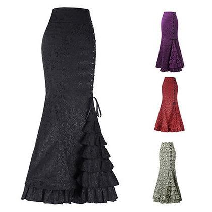 Jacquard Fishtail - Steampunk Vintage Skirt / Gothic Fashion