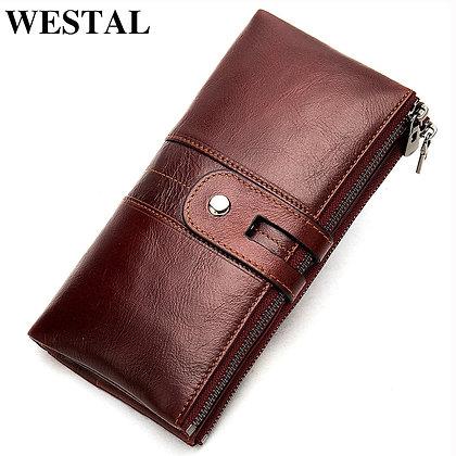 WESTAL - 100% Genuine Leather Quality Clutch Long Purse