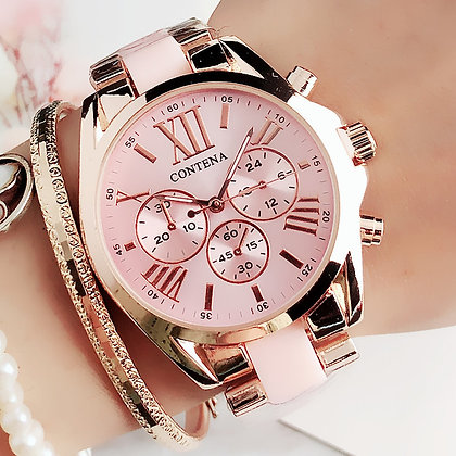 Pink Rose Gold Wrist Watch