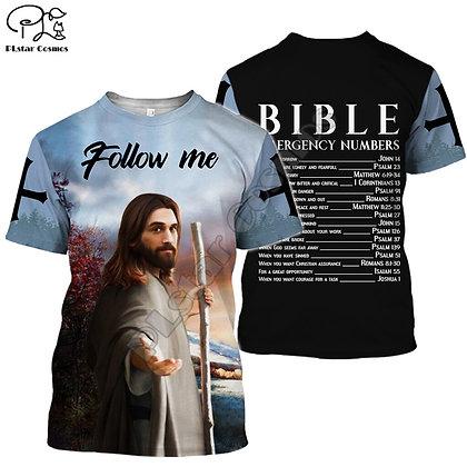 Christian Catholic Jesus Retro Streetwear 3DPrint Summer Casual T-shirt