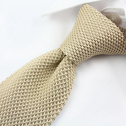 Men's Fashion Solid Knitted Tie