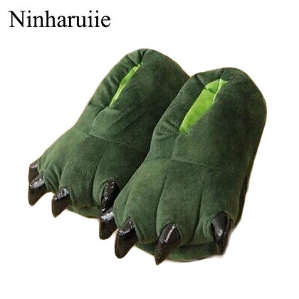 Coral Fleece Dinosaur Claws Shoes Girl/Boys