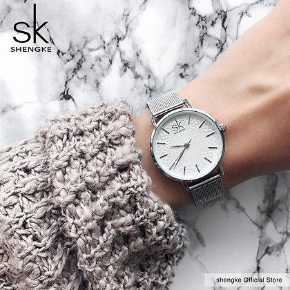 Super Slim Sliver Mesh Stainless Steel Watches