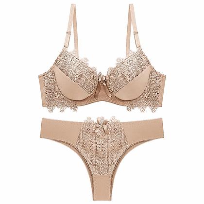 Push Up Bra and Thong Set Plus Size Lingere Underwear Set Ensemble Lingerie