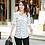 Thumbnail: New Fashion Print Blouses Women Long Style Shirts 2021 Long Sleeve Plus Size