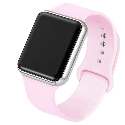 New Sport Casual Led Silicone Watch Pink Lovely Digital