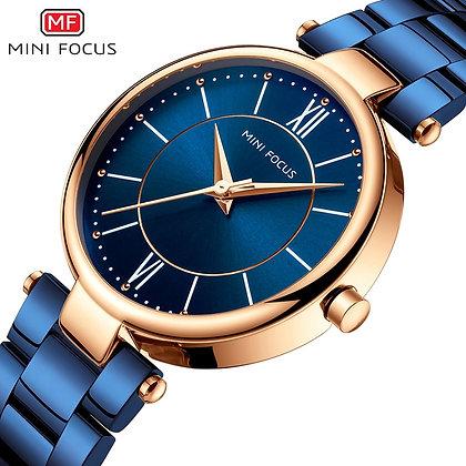 MINI FOCUS - Blue Stainless Steel Brand Luxury Fashion watch