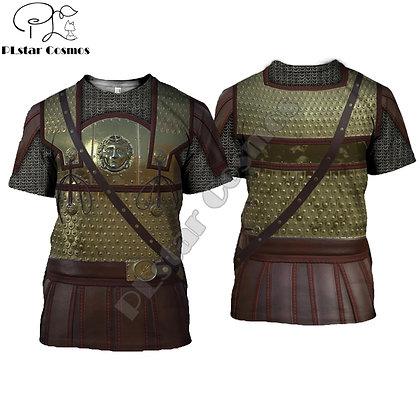 Greek Medieval Armor 3D Printed T Shirt Harajuku Summer /Short Sleeve