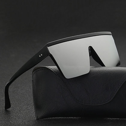 2021 Vintage Flat Top Brand sunglasses / Black Square Shades UV400 Gradient