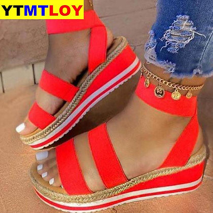 Platform Patchwork Flat - Comfortable Sandals
