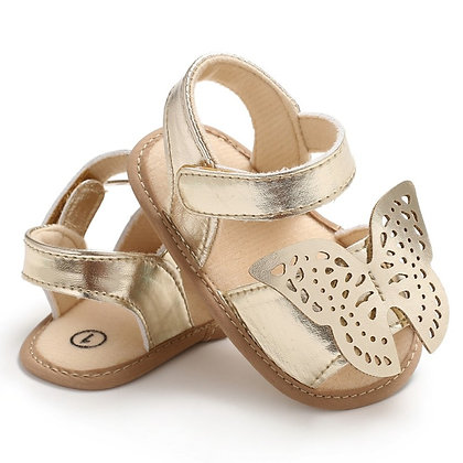 Butterfly Baby Sandals PU Leather Baby Girls Boys Nonslip Soft Soled