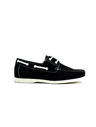 Lace Boat Shoes Black