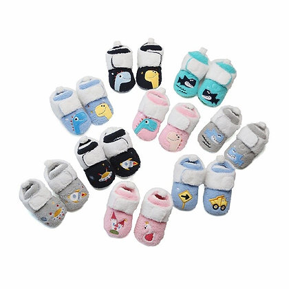 Cartoon Anime Plush Warm Toddler Baby Shoes Comforts Infant 0-18 Months