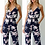 Thumbnail: Clubwear Loose Party Jumpsuits / Floral Printed Backless Sling Romper
