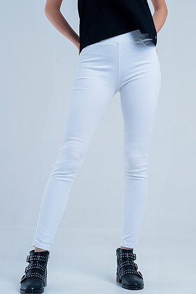 White Jeggings With Back Pockets