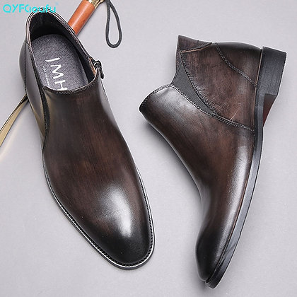 High Quality Luxury Genuine Leather Ankle Boots