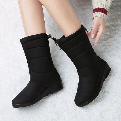 Waterproof Tassel Fur Ankle Boots