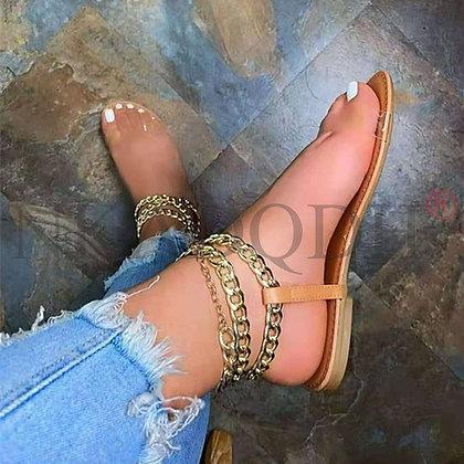 PVC  Leather Summer Flat Shoes / Sandals - Plus size