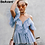 Thumbnail: BeAvant Off Shoulder Womens Top Backless Sexy Peplum Vintage Ruffle Mesh Blouse