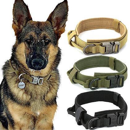 Dog Collar Adjustable Military Tactical Pets Dog Collars