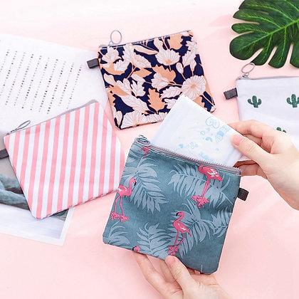 Cartoon Flamingo Makeup Case Zipper Make Up Bath Organizer Storage Cosmetic Bag