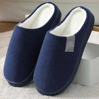 Warm Indoor Stripe Cotton Slippers