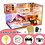 Thumbnail: CUTEBEE DIY Dollhouse Wooden Doll Houses Miniature Doll House Furniture Kit