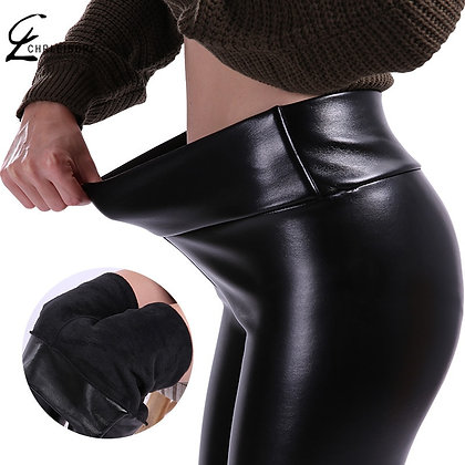 CHRLEISURE / S-5xl Plus Size / High Waist -Thick Stretch Trousers