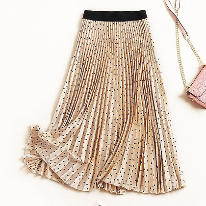 Pleated High Waist Velvet Maxi Skirts - Femme Faldas Mujer / Googoostore