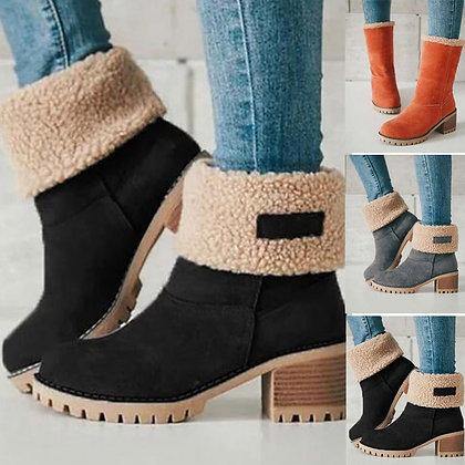 Non-Slip Vintage Short Boots / Zapatos De Mujer