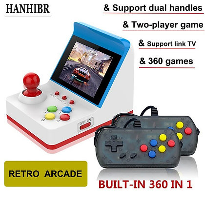 Mini Arcade Handheld Double Built-In 360 Classic Video Game Console