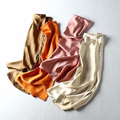 Vintage Elegant Satin High Waist Slit Skirts