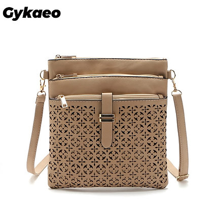 Messenger Bags Soft PU Leather Hollow Out Crossbody /Clutches Bolsas